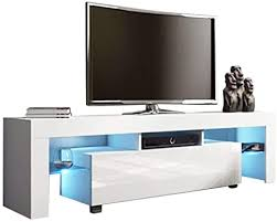 Anferstore Modern TV Stand, TV Cabinet with LED ... - Amazon.com