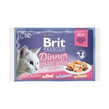 <b>Brit Premium</b> Dinner Plate Влажный корм в желе 85 гр * 4 шт