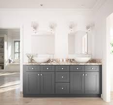 bathroom features gray shaker vanity: grey shaker ready to assemble bathroom vanities greyshaker