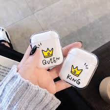 <b>Luxury</b> Couple Crown Style <b>Hard PC Transparent</b> Case for AirPods ...