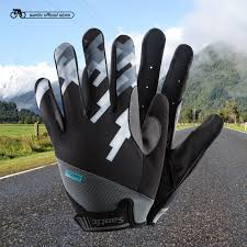 Santic <b>Cycling Gloves Men</b> Full Finger with Touch Function Quick ...