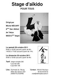 Stage Michel BECARD 29 octobre à PLOUZANE   Aïkido Brocéliande ... - stage_michel_Becart_octobre_2011