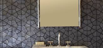 Ann Sacks Glass Tile Backsplash Segmented Hex Mosaic In Shadow Irid With And Design Decorating