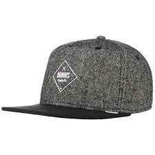 Djinns Herren <b>Caps</b> / Snapback Cap Rubber Tweed grau Verstellbar
