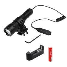 Rechargeable <b>5000Lm</b> T6 LED Tactical <b>Hunting Flashlight</b> Mount ...