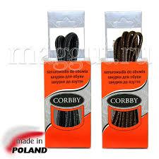 <b>CORBBY Шнурки 120см</b> круглые тонкие с пропиткой черные ...