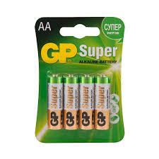 <b>Батарейка GP</b> Batteries Super АА пальчиковая LR6 1,5 <b>В</b> (4 шт ...