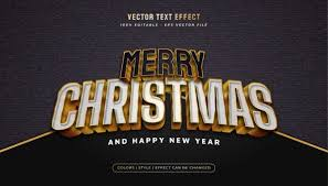 Premium Vector | Merry <b>christmas</b> text in white and <b>black style</b> and ...