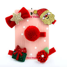 Online Shop 5pcs/set Christmas <b>Newborn Kid Baby Girl</b> Headwear ...