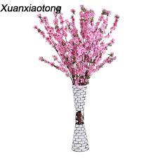 <b>Xuanxiaotong 1pcs</b> Silk Fabric Long Plum Blossom Flowers ...