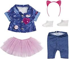 <b>Zapf Creation</b>, <b>Baby Born</b> Deluxe 829110, Jeans Dungarees Set, 43 ...