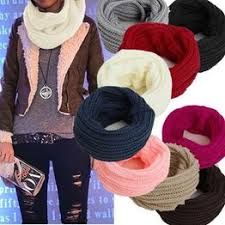 Scarf new women men winter warm infinity 1 circle cable knit ... - Vova