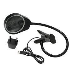3X 10X <b>Magnifier</b> LED Desk <b>Clamp</b> Light Daylight Craft Glass Table ...