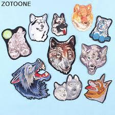 ZOTOONE Cool Wolf <b>Dog Tiger</b> Bike Parches Embroidery Iron on ...