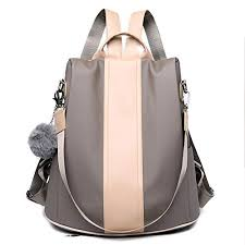 Khaki Yoome <b>Oxford</b> Water Resistant <b>Backpack</b> Anti-Theft Recksack ...