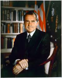 「During a live television and radio broadcast, President Richard Nixon stuns the nation by announcing that he will visit communist China the following year.」の画像検索結果
