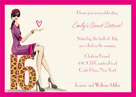 sweet birthday party invitations sweet 16 invitation templates