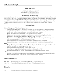 example of skills in resumes template example of skills in resumes
