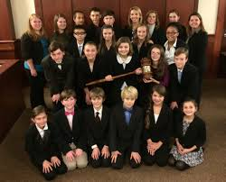 forestbrook middle school wins mock trial competition education forestbrook middle school mock trial team