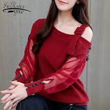 <b>Autumn long sleeve</b> shirt women fashion woman blouses <b>2019</b> sexy ...