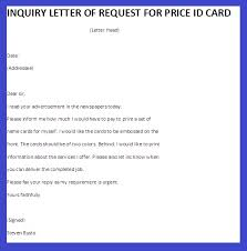 inquiry letter of request for price id card   business letter examplesinquiry letter of request for price id card