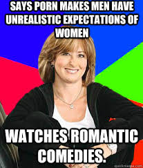 Says porn makes men have unrealistic expectations of women WATCHES ... via Relatably.com