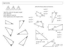 trig worksheets best worksheet label sides on triangles