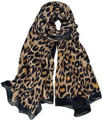 GERINLY Cozy Cheetah <b>Scarfs</b> For <b>Women</b> Stylish <b>Cotton</b> Leopard ...