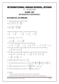 Identity Math Properties Worksheet - Properties of Multiplication ...Math Worksheet : Additive Inverse Property Worksheet The Multiplicative Identity Identity Math Properties Worksheet