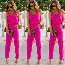Buy <b>summer women jumpsuit</b> solid <b>jumpsuits sexy</b> v neck and get ...