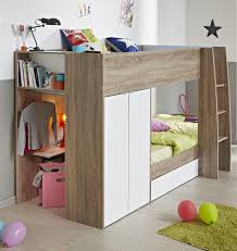 m awesome natural brown oak wood bunk beds with open storage space on the left side 744x786 awesome ikea bedroom sets kids