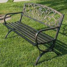 Garden Chairs, Swings & <b>Benches Vintage</b> Gothic <b>Style</b> Green <b>Metal</b> ...