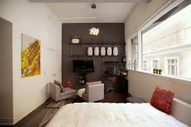small apartment decor ideas interior ideas for very small apartement with large glass window and compact apartment furniture