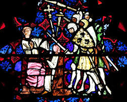 the trouble with thomas  the controversies of st thomas becket    the martyrdom of st thomas becket appears in a fourteenth century stained glass interpretation