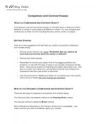 cover letter example of comparison essay apa example of comparison cover letter example of comparison and contrast essay previewexample of comparison essay large size