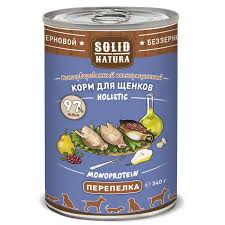 <b>Solid Natura Holistic</b> - <b>монобелковый</b> корм с перепелкой для ...