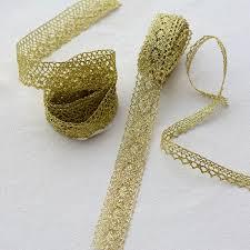 <b>High Quality</b> Latest Gold <b>Lace</b> Fabric <b>Applique Lace</b> Ribbon Trim ...