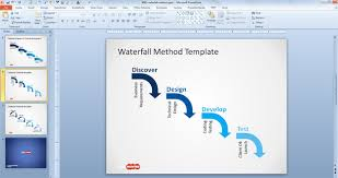 free waterfall diagram for powerpoint   free powerpoint templates    waterfall model for powerpoint