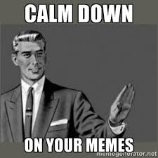 Calm down On your memes - Bitch, Please grammar | Meme Generator via Relatably.com