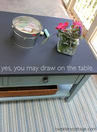 two story cottage chalkboard coffee table chalk paint coffee table