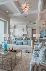 coastal living room designs neutral apart from the geometric design of the ceiling and keeping everything