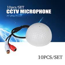 <b>YiiSPO 10PCS</b>/set CCTV Microphone Golf Shape audio Pickup ...