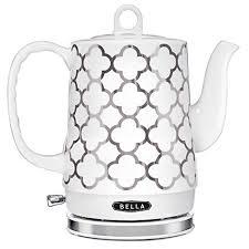 BELLA (14522) 1.2 Liter Electric Ceramic Tea Kettle ... - Amazon.com