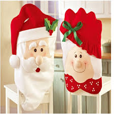 household dining table set christmas snowman knife:  pcs set christmas supplies dining chair covers mr and mrs danta claus hats red