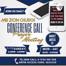 MBZC Conference Call Prayer Meeting