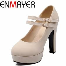 <b>ENMAYER</b> Hot Mary Janes <b>Sexy</b> Fashion High Shoes Women ...