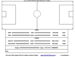 youth soccer coaching sports forms   mysportsforms comsoccer field diagram statistics   pdf