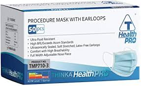 THINKA PROCEDURE <b>MASK</b> WITH EARLOOPS (<b>50pcs</b>) - <b>Medical</b> ...