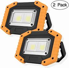 OTYTY COB 30W 1500LM <b>LED</b> Work Light 2 Pack, <b>Rechargeable</b> ...