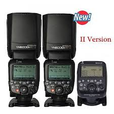 <b>2 YONGNUO YN600EX</b>-<b>RT II 2.4G</b> Wireless Flash+<b>YN</b>-E3-RT <b>II</b> ...